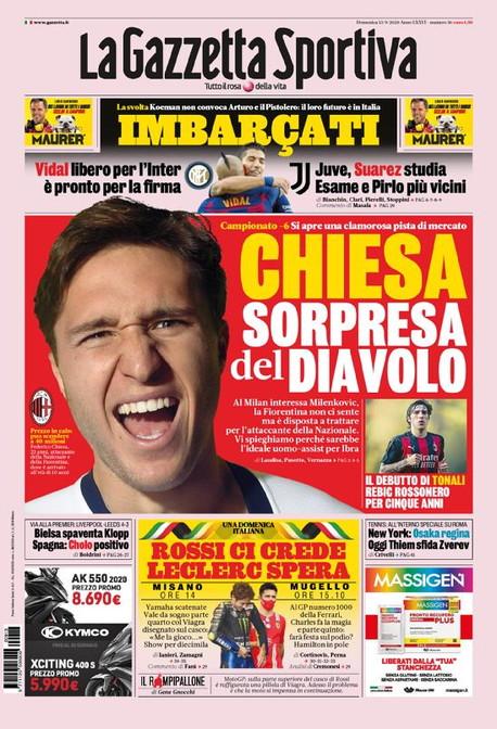 Le prime pagine, e non solo, dei quotidiani sportivi italiani ed esteri in edicola oggi<br /><br />