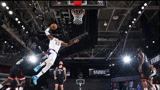 I Lakers schiacciano i Rockets e si prendono la finale di Conference