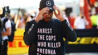 Hamilton nei guai per la t-shirt contro la polizia Usa: Fiavaluta sanzioni