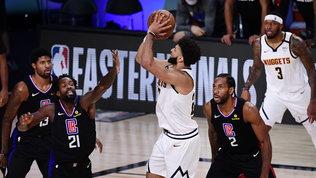 Impresa dei Nuggets, Clippers fuori. A Est primo round a Miamicon Boston