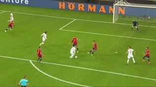 Germania, il gol dell'1-0 di Werner