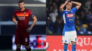 """Il Napoli """"stoppa""""Milik alla Roma e blocca ancora l'affare Dzeko-Juve"""