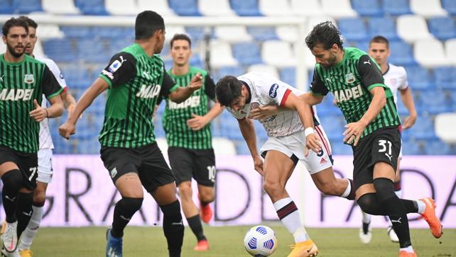 Sassuolo e Cagliari, pari e patta: 1-1 in Emilia