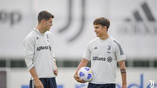 """Dybala """"vede"""" la Roma. Primo allenamento per Morata"""