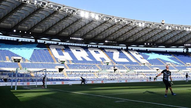 Tornano i tifosi all'Olimpico:1.000 spettatori per Roma-Juve e Lazio-Inter