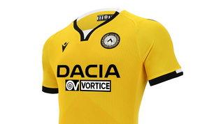 Udinese, la terza maglia è tutta gialla