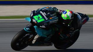 Prima fila Yamaha: Morbidelli in pole, Rossi 3°