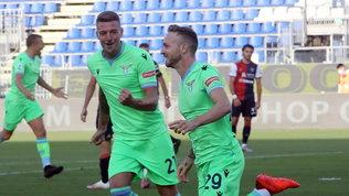 Lazzari-Immobile, la Lazio riparte con una vittoria a Cagliari