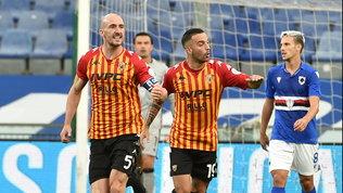 Benevento, tripla rimonta! Incubo Samp: 2-0 poi il blackout