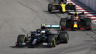Bottase la giuria rimandano il record di Hamilton, Leclerc salva l'onore