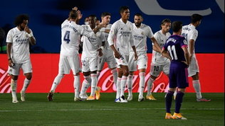 Liga: Il Real Madrid piega 1-0 il Valladolid, l'Atletico non va oltre lo 0-0 a Huesca