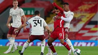 Liverpool fuori dalla Coppa di Lega: l'Arsenalva avanti ai rigori