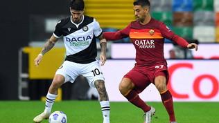 Udinese-Roma, le immagini del match