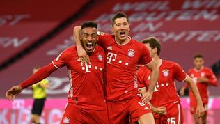 Bayern, serve un super Lewandowski per piegare l'Hertha: poker e 4-3 finale