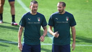 Anche la Nazionale attende l'Asl, Bonucci-Chiellini in standby