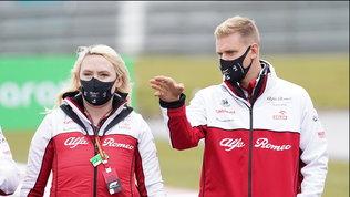 Mick Schumacher alla vigilia dell'esordio in F1