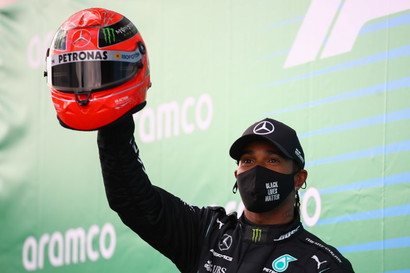 Lewis ha conquistato la 91.esima vittoria in carriera, proprio come Michael.<br /><br />