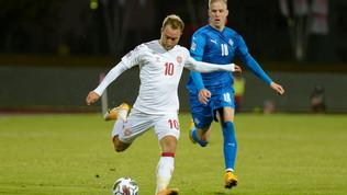 Eriksen è già in forma derby: gol e presenza n.100 con la Danimarca