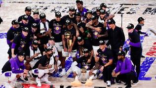 Lakers campioni Nba: trionfo firmato LeBron e dedicato a Kobe