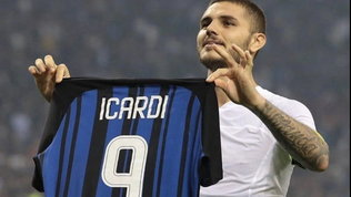 Icardi ricorda sui social la tripletta al Milan nel derby