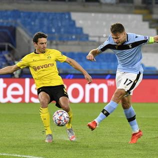 Lo spettacolo di Lazio-Dortmund in foto