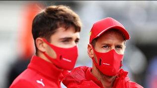 """L'ottimismo di Leclerc: """"Giornata molto positiva"""". Vettel: """"Tracciato scivoloso"""""""