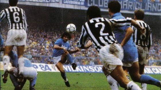 La celebre punizione contro la Juventus nella stagione 1985/86.