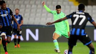 Correa-gol poi la Lazio regge: ottimo pareggio in Belgio