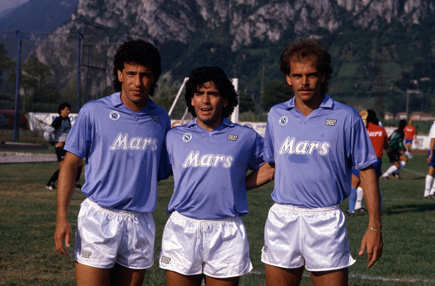 Careca, Maradona e Alemao.