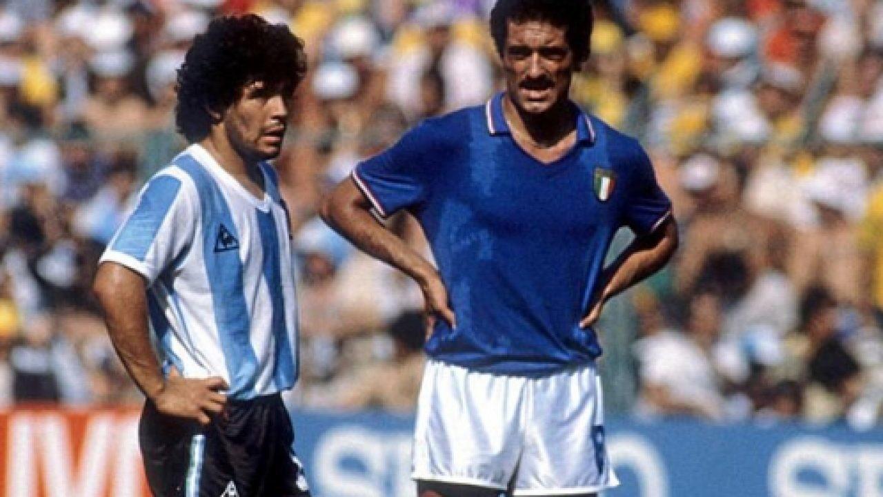 Al mondiale del 1982 l'Argentina di Maradona dovette arrendersi contro l'Italia. La stretta marcatura a uomo di Claudio Gentile al pibe de oro è rimasta nella storia del calcio.