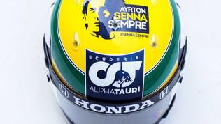 Gasly, a Imola l'omaggio è a Senna