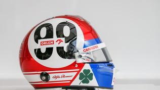 """Per Giovinazzi il casco è """"d'epoca"""""""
