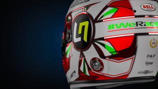 Norris cuore italico: il casco tricolore