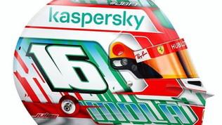 Leclerc, casco super per Imola