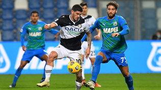 Sassuolo-Udinese in bianco: le foto