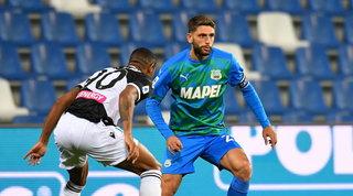 Il Sassuolo non sfonda, pari con l'Udinese e niente primo posto