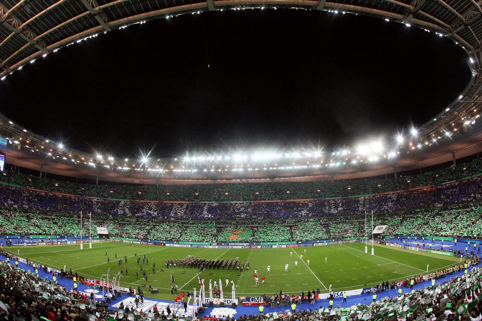 Lo Stade de France di Saint-Denis. Secondo impianto al mondo ad aver ospitato sia una finale del Mondiale che della coppa del Mondo di rugby.