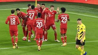 Il Bayern batte il Borussia a Dortmund e vola in testa, il Lipsia torna secondo