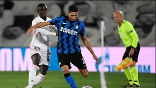 Hakimi tiene in ansia l'Inter: esce dolorante dal campo.Brozo positivo
