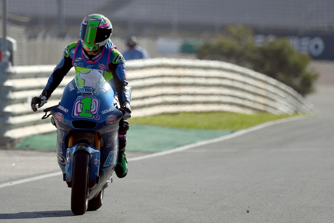 Enea Bastianini&nbsp;si laurea campione del mondo in Moto2 davanti al futuro compagno di box Marini<br /><br />