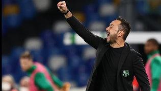 """De Zerbi, Sassuolo no-limits: """"Non firmo per il quarto posto. Il Lione? Sto bene qui"""""""