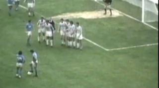 Maradona e la punizione dalla parabola perfetta: la Juve lo ricorda così