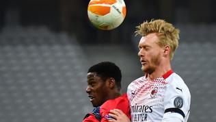 Lille-Milan, le immagini del match