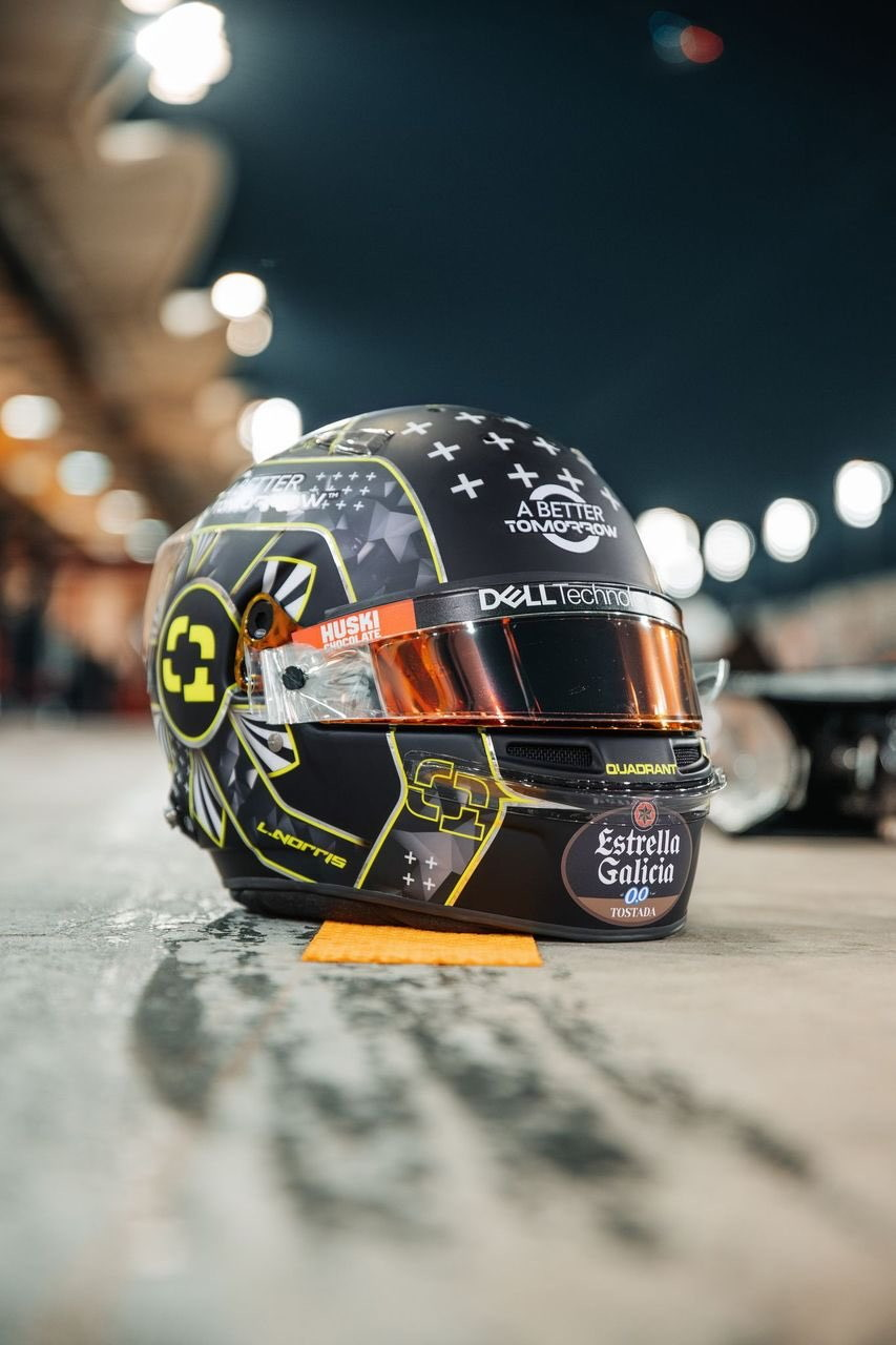 Nuova &quot;prima&quot; per Lando Norris e nuovo casco per il britannico che in quel di Sakhir, in vista del GP in notturna del Bahrain, sfogger&agrave;&nbsp;una livrea speciale. Per il pilota McLaren un casco nero con inserti giallo fluo ideato da ben... 12mila utenti su Twitch dove Norris &egrave; una vera e propria star dei videogames.<br /><br />