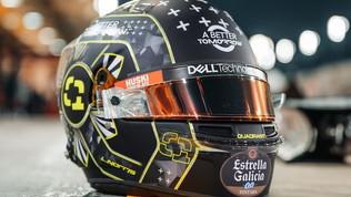 Norris, casco speciale per la prima in notturna