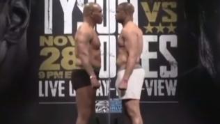Tyson-Jones sul ring: cerimonia del peso senza colpi di scena
