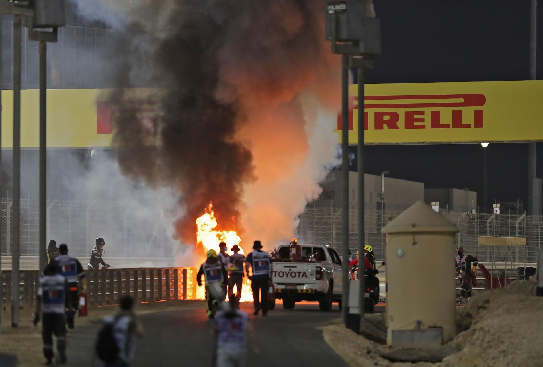 Incidente da brividi per il francese in avvio del GP del Bahrain<br /><br />