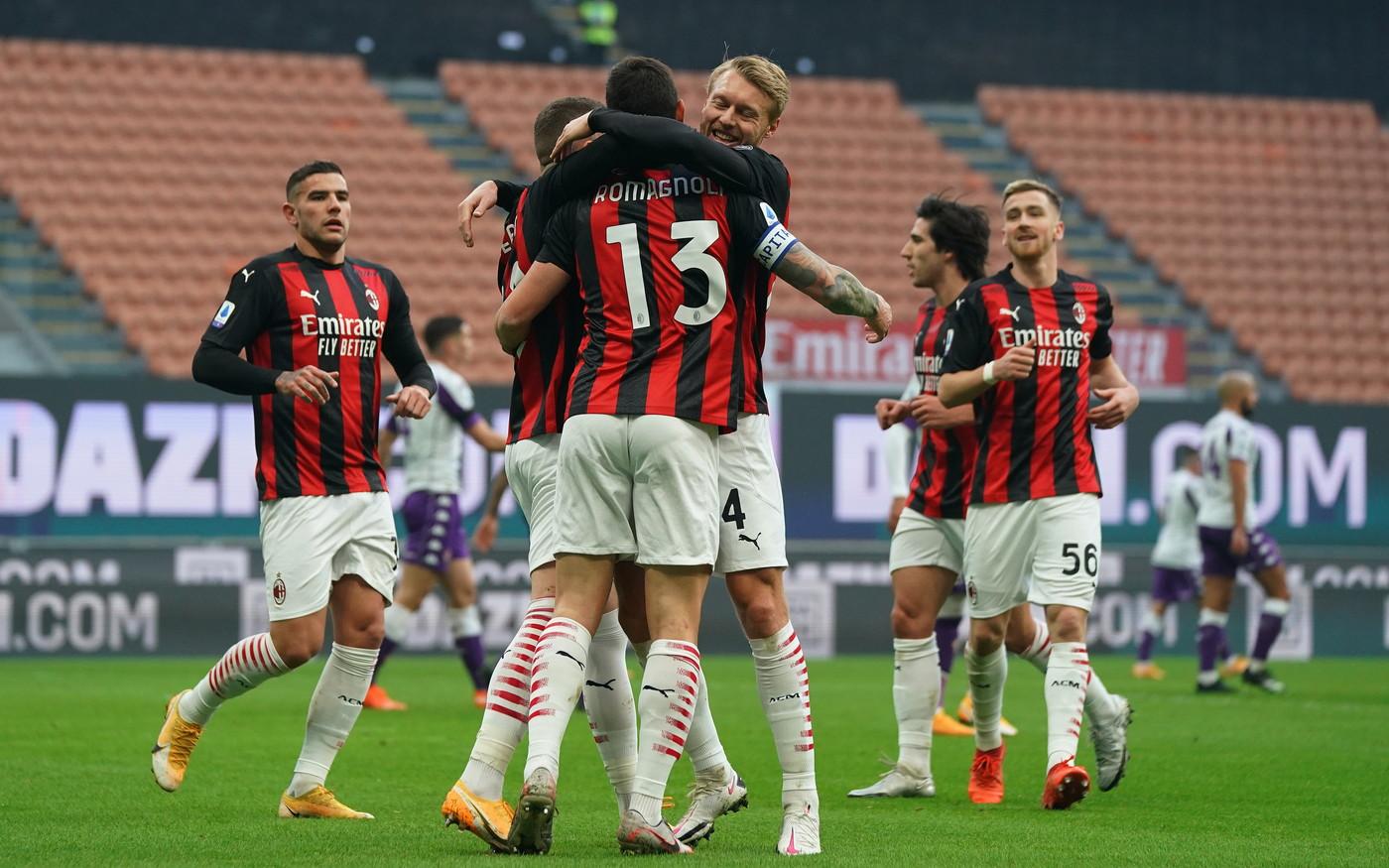 Il Milan non si ferma più: Romagnoli e Kessie risolvono la pratica viola |  News - Sportmediaset
