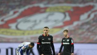 L'Hertha frena il Leverkusen, il Lipsia torna secondo