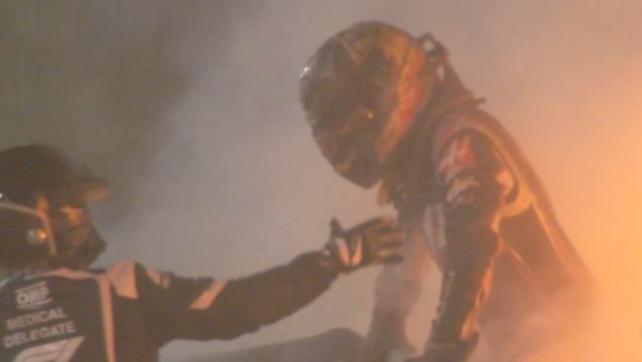 """Grosjean racconta l'incidente: """"Dentro le fiamme ho pensato a Lauda"""""""